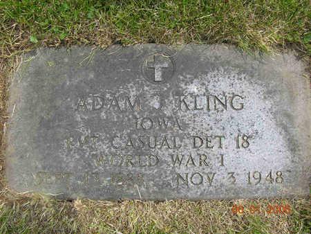 KLING, ADAM JOHN - Jasper County, Iowa | ADAM JOHN KLING