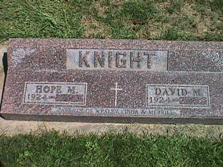 KNIGHT, DAVID MERRILL - Jasper County, Iowa | DAVID MERRILL KNIGHT