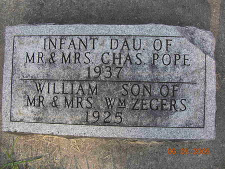 ZEGERS, WILLIAM (WILLEE) - Jasper County, Iowa | WILLIAM (WILLEE) ZEGERS