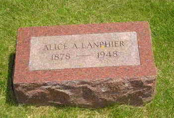 RUMPLE LANPHEIR, ALICE A - Jasper County, Iowa | ALICE A RUMPLE LANPHEIR