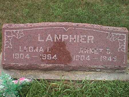 LANPHIER, LEONA IRENE - Jasper County, Iowa | LEONA IRENE LANPHIER