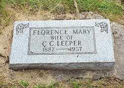 ROY LEEPER, FLORENCE - Jasper County, Iowa | FLORENCE ROY LEEPER