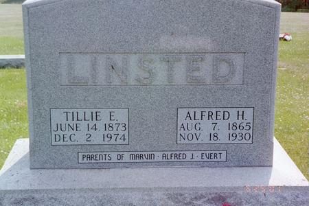 LINSTED, TILLIE E - Jasper County, Iowa | TILLIE E LINSTED