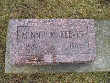MCKEEVER, MINNIE - Jasper County, Iowa | MINNIE MCKEEVER