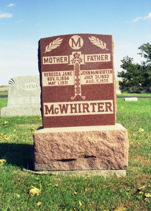MCWHIRTER, REBECCA JANE - Jasper County, Iowa | REBECCA JANE MCWHIRTER
