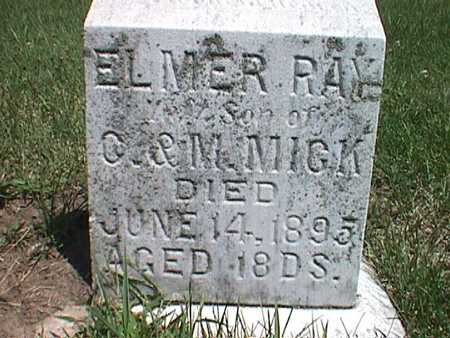 MICK, ELMER RAY - Jasper County, Iowa | ELMER RAY MICK