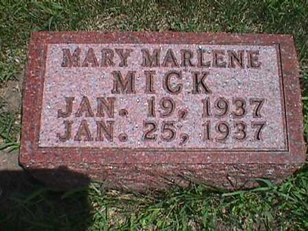 MICK, MARY MARLENE - Jasper County, Iowa | MARY MARLENE MICK