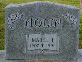 NOLIN, MABLE I - Jasper County, Iowa | MABLE I NOLIN