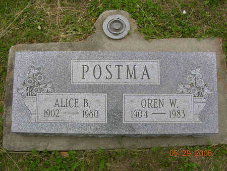 POSTMA, ALICE BELLE - Jasper County, Iowa | ALICE BELLE POSTMA