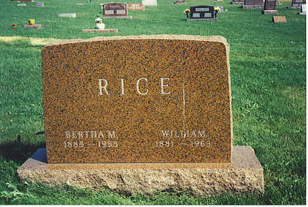 RICE, BERTHA - Jasper County, Iowa | BERTHA RICE