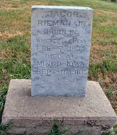 RIEMAN, JACOB JR. - Jasper County, Iowa | JACOB JR. RIEMAN