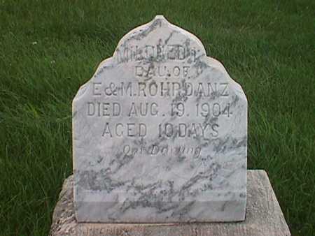 ROHRDANZ, MILDRED I. - Jasper County, Iowa   MILDRED I. ROHRDANZ