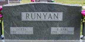 RUNYAN, OLETA - Jasper County, Iowa | OLETA RUNYAN
