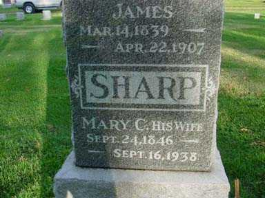 SULGROVE SHARP, MARY C - Jasper County, Iowa | MARY C SULGROVE SHARP