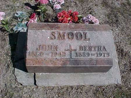SHAW SMOOL, BERTHA - Jasper County, Iowa | BERTHA SHAW SMOOL
