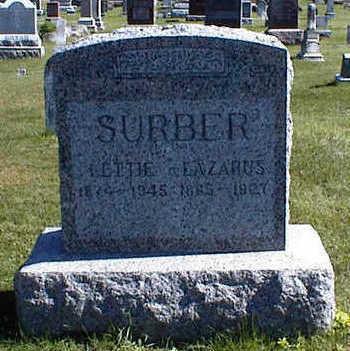 PORTER SURBER, LETTIE - Jasper County, Iowa | LETTIE PORTER SURBER