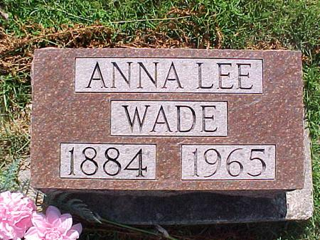 WADE, ANNA LEE - Jasper County, Iowa | ANNA LEE WADE