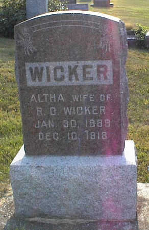 WICKER, ALTHA - Jasper County, Iowa | ALTHA WICKER