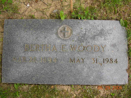 WOODY, BERTHA ETHEL - Jasper County, Iowa | BERTHA ETHEL WOODY