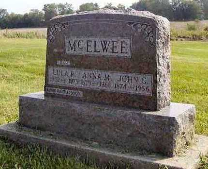 MCELWEE, JOHN G - Jefferson County, Iowa | JOHN G MCELWEE