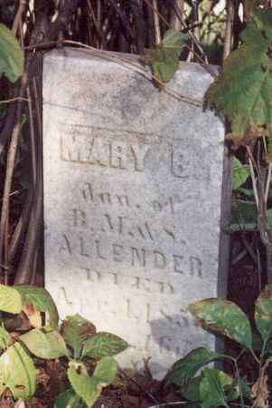ALLENDER, MARY B - Jefferson County, Iowa | MARY B ALLENDER