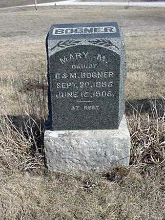 BOGNER, MARY M. - Jefferson County, Iowa   MARY M. BOGNER