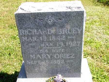 BRUEY, MARY - Jefferson County, Iowa | MARY BRUEY
