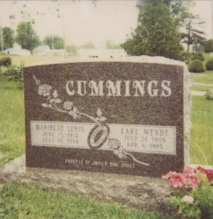 LEWIS CUMMINGS, MARIRUTH - Jefferson County, Iowa | MARIRUTH LEWIS CUMMINGS