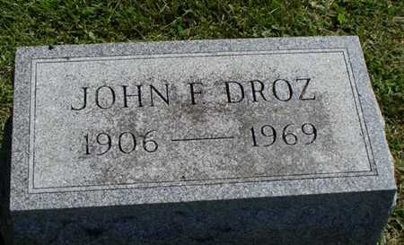 DROZ, JOHN - Jefferson County, Iowa | JOHN DROZ