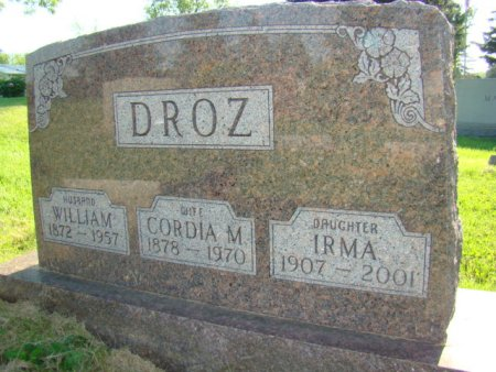 DROZ, IRMA - Jefferson County, Iowa | IRMA DROZ