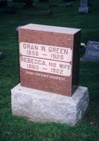 GREEN, ORAN W - Jefferson County, Iowa | ORAN W GREEN