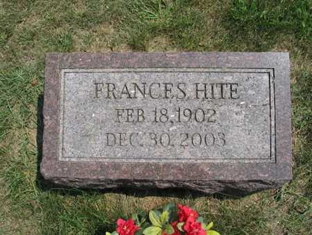 HITE, FRANCES - Jefferson County, Iowa | FRANCES HITE