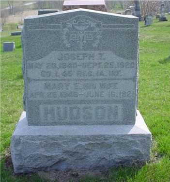 GREENWOOD HUDSON, MARY ELLEN - Jefferson County, Iowa | MARY ELLEN GREENWOOD HUDSON