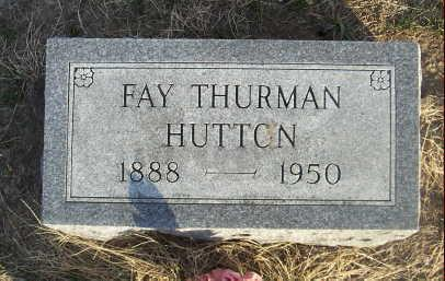 HUTTON, FAY THURMAN - Jefferson County, Iowa | FAY THURMAN HUTTON