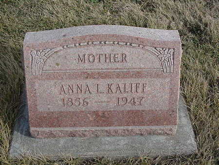 KALLIFF, ANNA L. - Jefferson County, Iowa | ANNA L. KALLIFF
