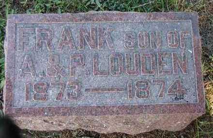LOUDEN, FRANK - Jefferson County, Iowa   FRANK LOUDEN