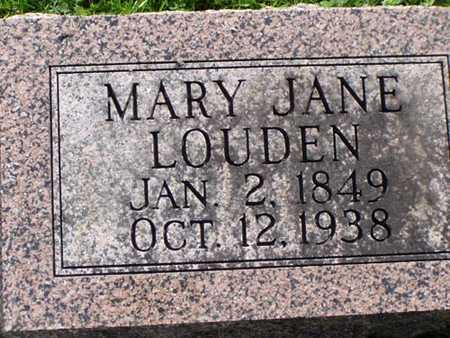 LOUDEN, MARY JANE - Jefferson County, Iowa | MARY JANE LOUDEN