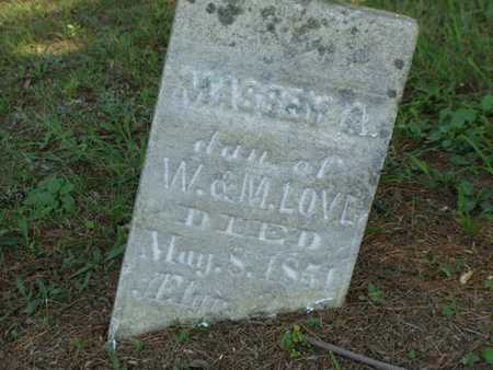 LOVE, MASSEY A. - Jefferson County, Iowa | MASSEY A. LOVE