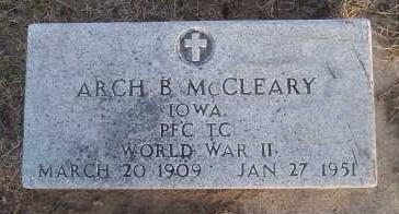 MCCLEARY, ARCH B. - Jefferson County, Iowa | ARCH B. MCCLEARY