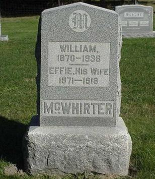 MCWHIRTER, WILLIAM - Jefferson County, Iowa | WILLIAM MCWHIRTER