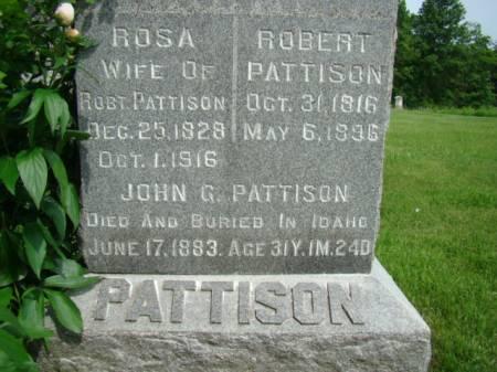 GILBERT PATTISON, ROSA - Jefferson County, Iowa | ROSA GILBERT PATTISON