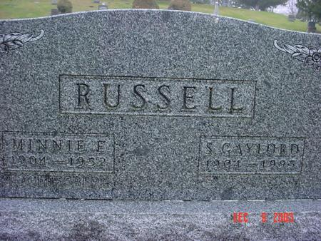 RUSSELL, MINNIE E. - Jefferson County, Iowa | MINNIE E. RUSSELL