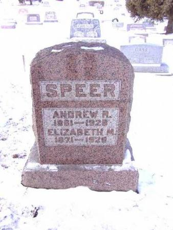 SPEER, ANDREW R. AND ELIZABETH - Jefferson County, Iowa | ANDREW R. AND ELIZABETH SPEER