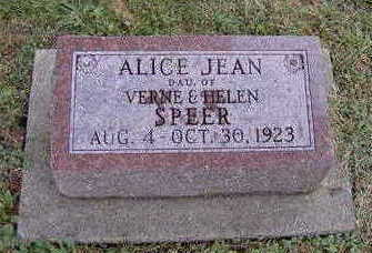SPEER, ALICE JEAN - Jefferson County, Iowa | ALICE JEAN SPEER
