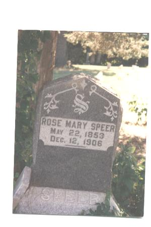 SPEER, ROSE MARY - Jefferson County, Iowa | ROSE MARY SPEER