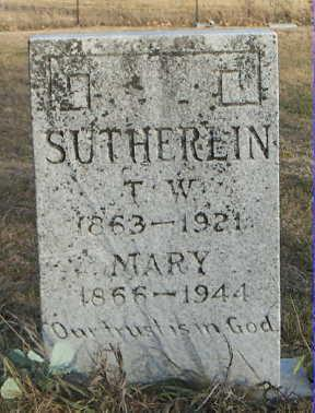 SUTHERLIN, MARY - Jefferson County, Iowa | MARY SUTHERLIN