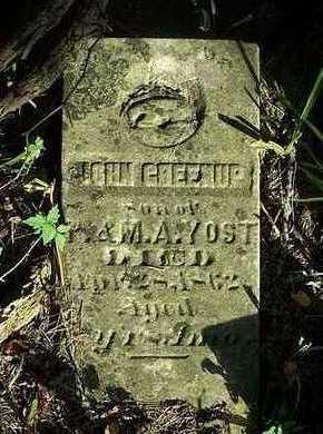 YOST, JOHN GREENUP - Jefferson County, Iowa | JOHN GREENUP YOST