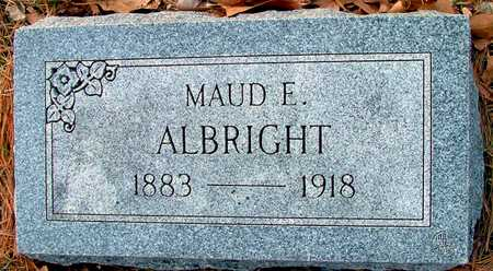 ALBRIGHT, MAUD E - Johnson County, Iowa | MAUD E ALBRIGHT