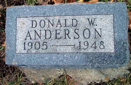 ANDERSON, DONALD W - Johnson County, Iowa | DONALD W ANDERSON