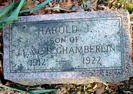 CHAMBERLIN, HAROLD J - Johnson County, Iowa | HAROLD J CHAMBERLIN
